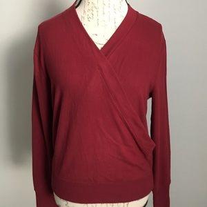 NWT J.CREW Faux-Wrap Sweater Top